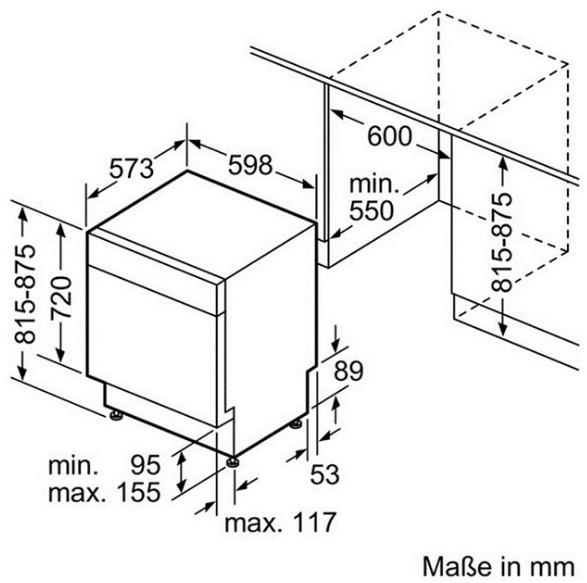 Tổng quan chi tiết của  máy rửa chén Bosch SMS50D48EU