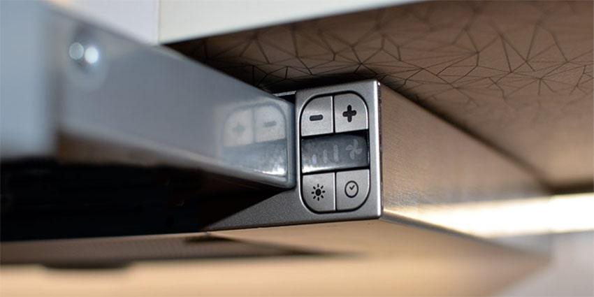 Ảnh bảng điều khiển máy hút mùi Hafele HH-TG90E 539.81.075
