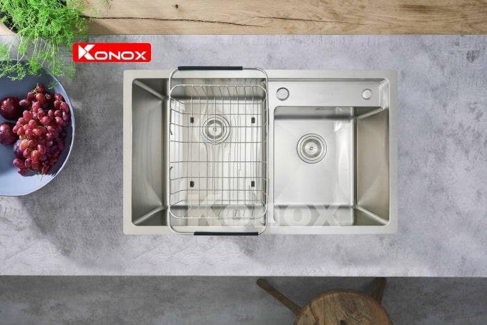 Chậu rửa chén bát Konox Overmount Series KN7847DO