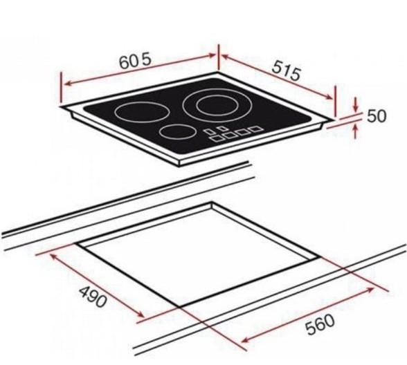 Cấu tạo chi tiết của bếp từ Teka IT 6350 IKNOB