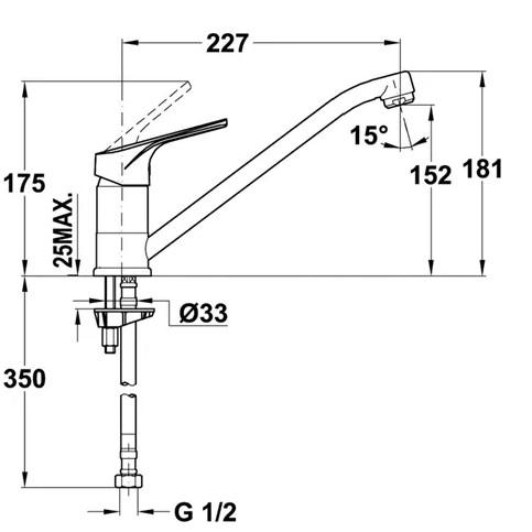 Thông số chi tiết của vòi rửa chén bát TEKA MTP 913
