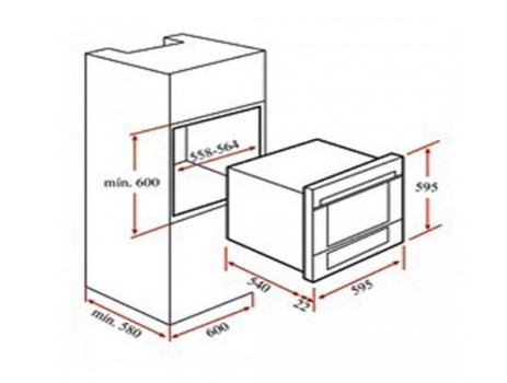 Thông số chi tiết của lò nướng Teka HL 45.15