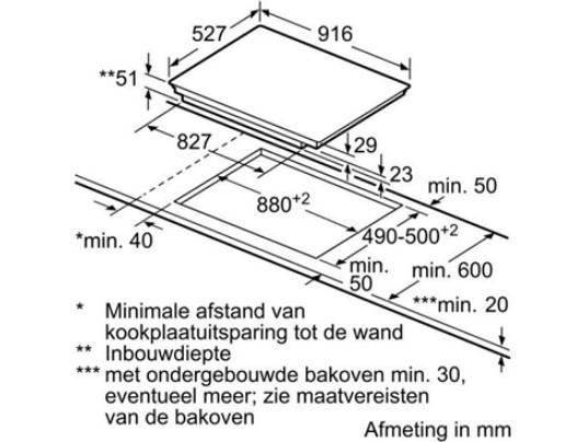 Thông số chi tiết của bếp từ Bosch PIV975DC1E