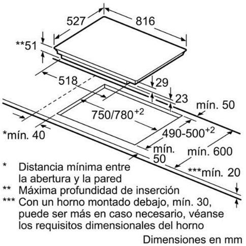 Thông số chi tiết của bếp từ Bosch PXY875KE1E