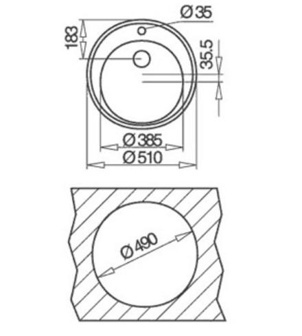 Thông số chi tiết của chậu rửa bát cao cấp Teka Centroval 45