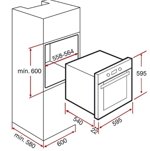 Thông số chi tiết củalò nướng Teka HS 720
