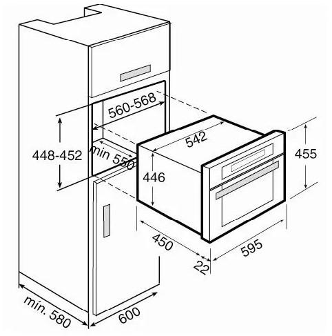 Thông số chi tiết của lò nướng điện TEKA 960.1 S