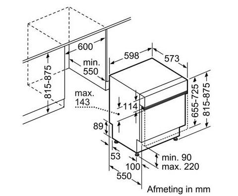 Thông số chi tiết của máy rửa bát Bosch SMI46MS03E