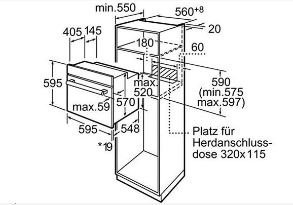 Thông số chi tiết của lò nướng Bosch HBN559E1M