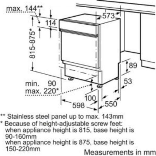 Thông số chi tiết của máy rửa bát Bosch SMI65M65EU