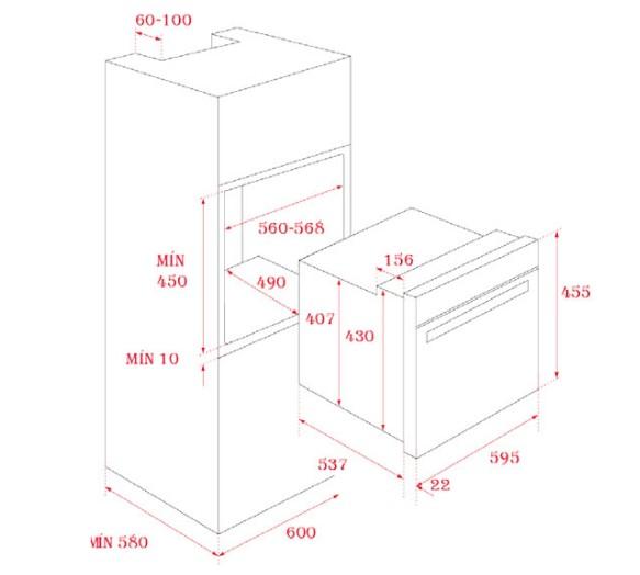 Thông số kỹ thuật của lò nướng điện HLC 840 SS
