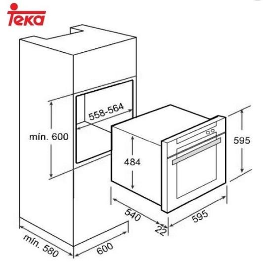 Thông số chi tiết của lò nướng Teka He 720
