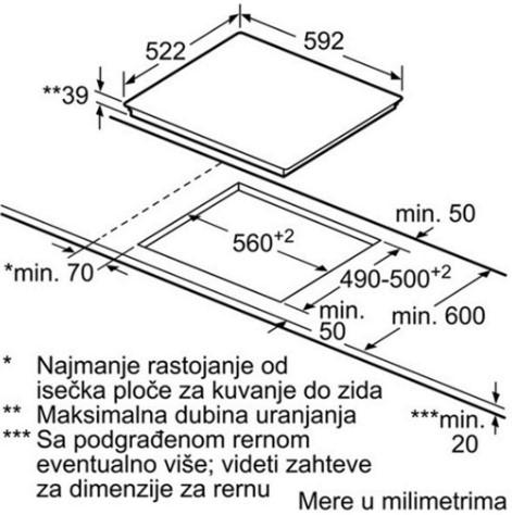 Thông số chi tiết của bếp từ Bosch PXY601JW1E