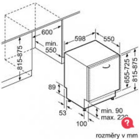 Thông số chi tiết của máy rửa bát Bosch smv88tx03e