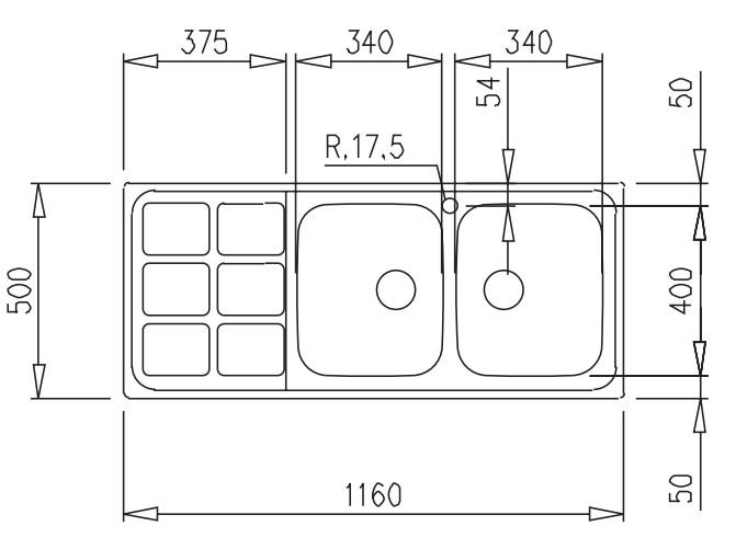 Thông số chi tiết của máy rửa bát Teka Cuadro 2B 1D