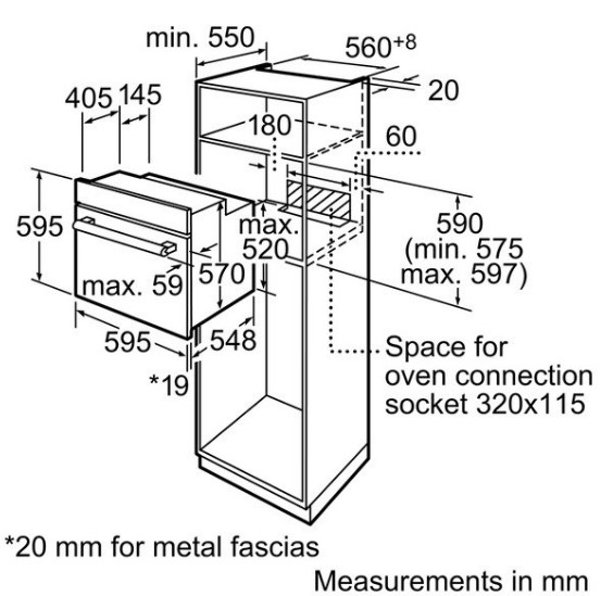 Thông số chi tiết của lò nướng BOSCH HBG633BS1J