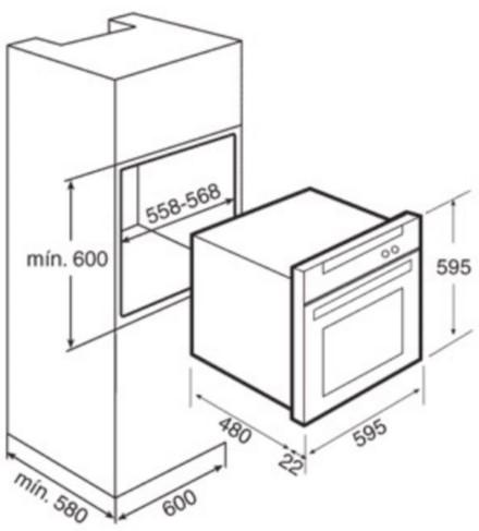 Thông số chi tiết về lò nướng Teka He 545