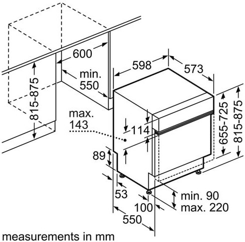 Thông số chi tiết về máy rửa bát Bosch SMI68NS06G