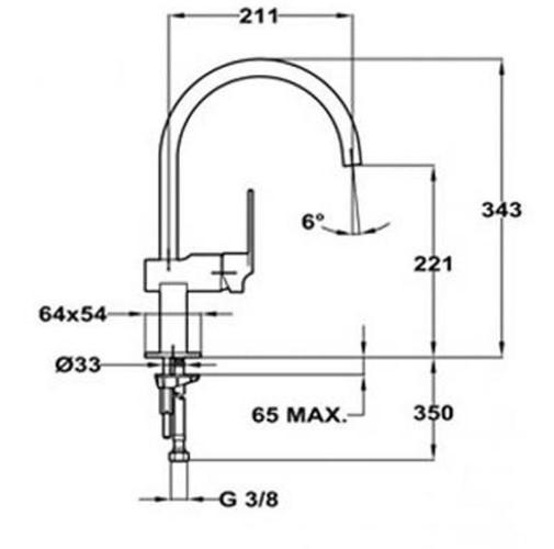 Thông số chi tiết của vòi rửa chén bát TEKA CUADRO