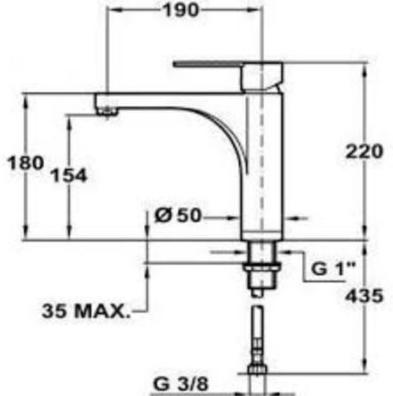 Thông số chi tiết của vòi rửa Teka EXPRESSION