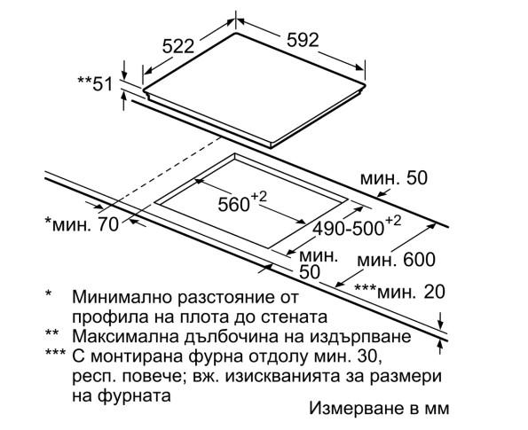 Thông số chi tiết của bếp từ Bosch PIN651T14E