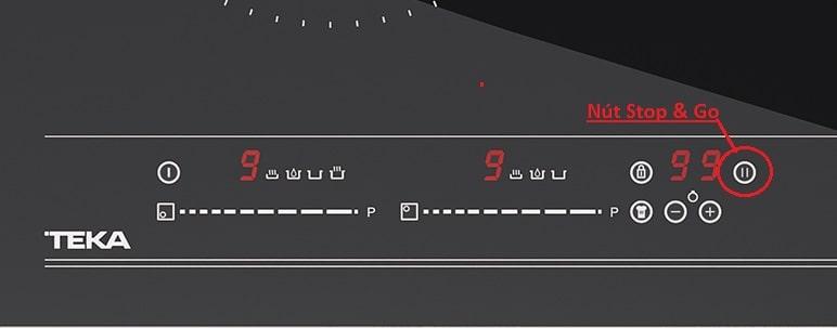 Ảnh chức năng Stop and go của bếp từ teka IZ 8320 HS