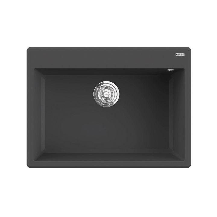 Chậu rửa bát Konox Granite Ruvita 680 Black