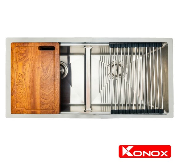 Chậu rửa chén bát Konox Undermount Series KN8745DUB