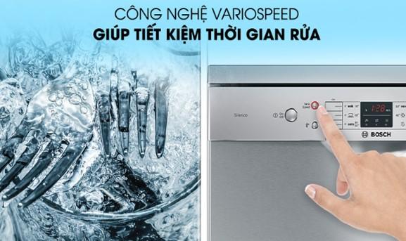 Tính năng Vario Speed của máy rửa bát