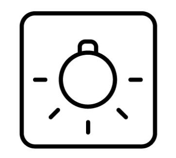 Ký hiệu đèn sáng bên trong lò nướng Teka