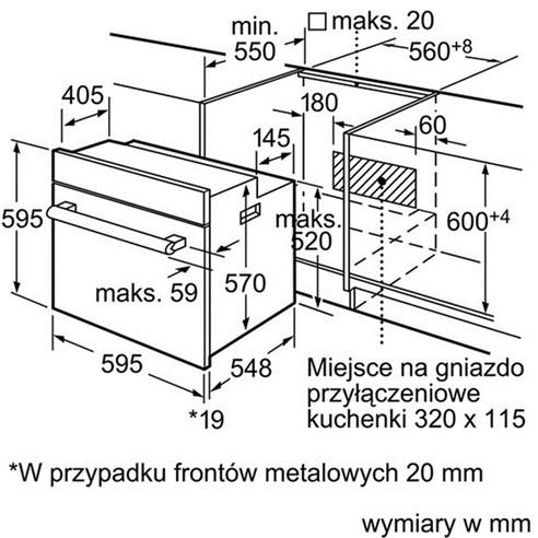 Thông số chi tiết của lò nướng BOSCH HBA43S360E