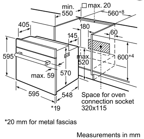 Thông số chi tiết của lò nướng BOSCH HBA73R350B