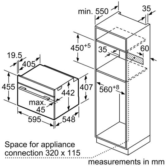 Thông số chi tiết của lò nướng Bosch CSG656RS1
