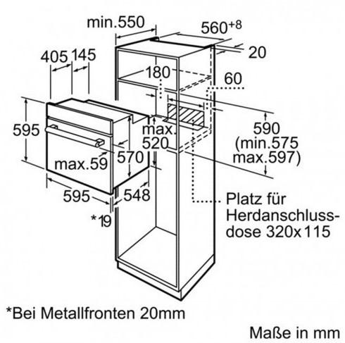 Thông số chi tiết của lò nướng Bosch HBN331E1K