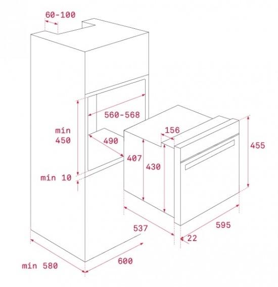 Thông số chi tiết của lò nướng Teka HLC 840
