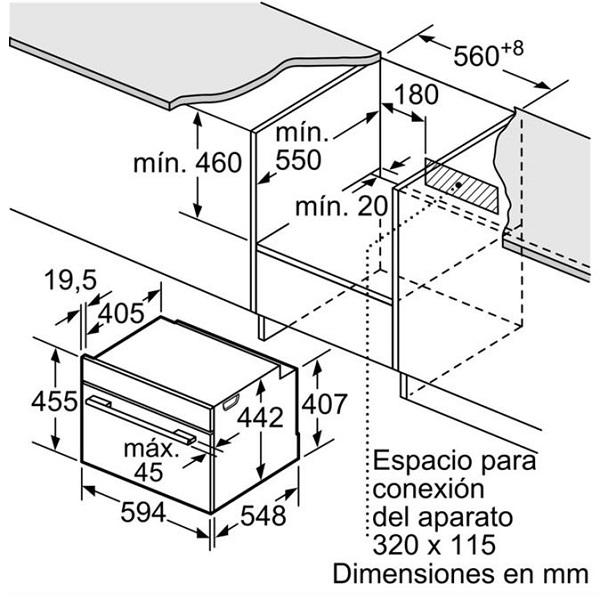 Lò nướng kèm vi sóng Bosch CMG633BB12
