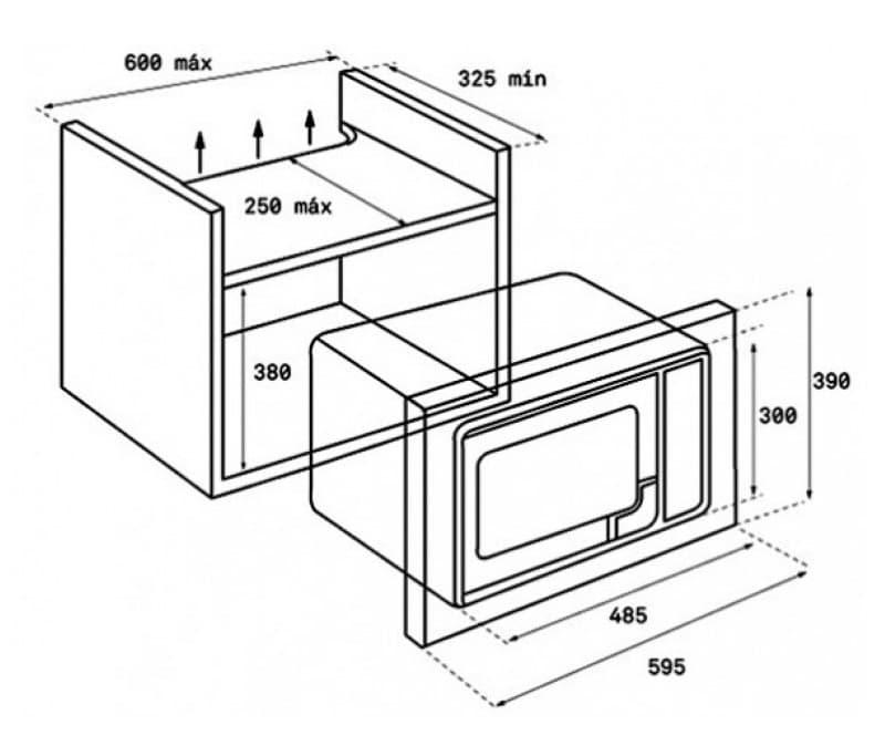 Ảnh bản vẽ kỹ thuật lò vi sóng Teka MS 620 BIS