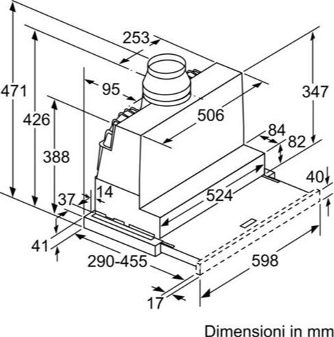 Thông số chi tiết của máy hút mùi Bosch DFS067A50