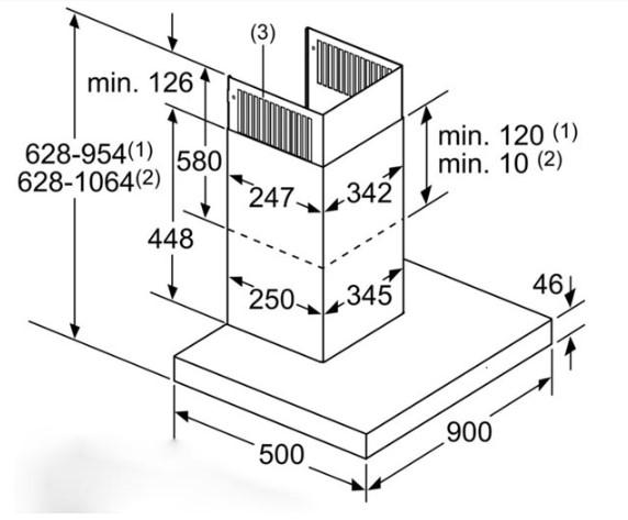 Thông số chi tiết của máy hút mùi Bosch DWB98JQ50B