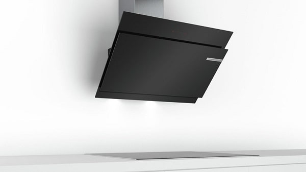 Máy hút mùi nghiêng Bosch DWK97JM60 với thiết kế độc đáo