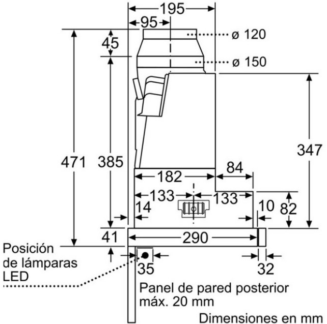 Thông số chi tiết của máy hút mùi Bosch DFS067K50