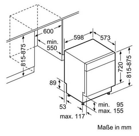 Thông số chi tiết của máy rửa bát Bosch SMU68TS02E