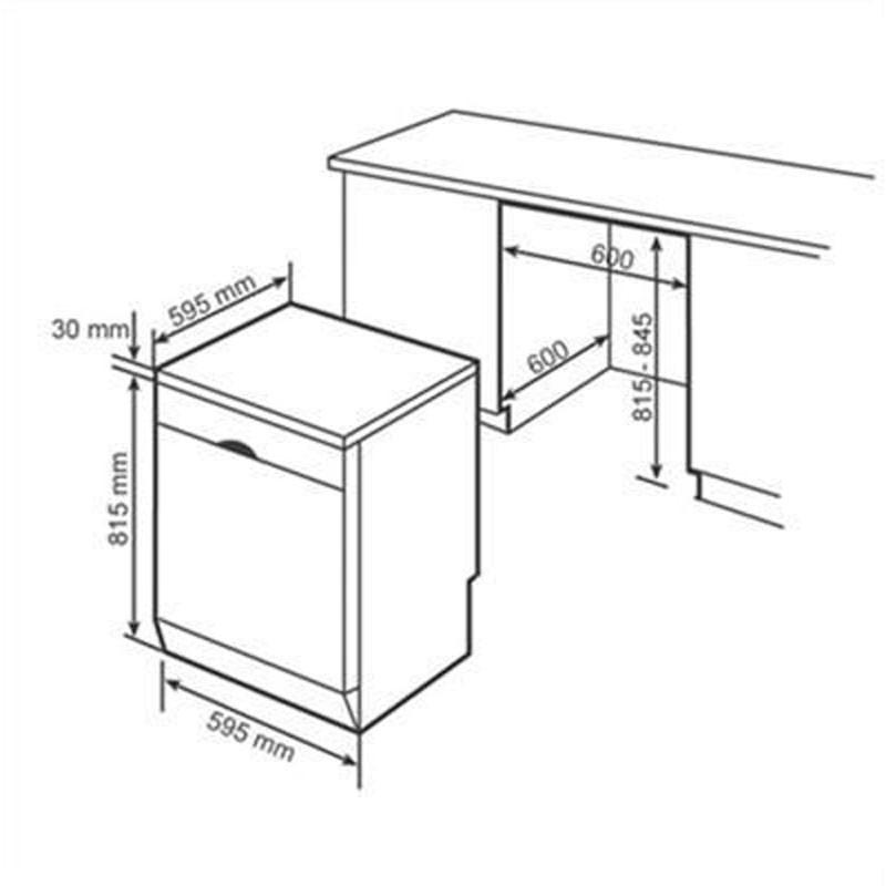 Thông số chi tiết của máy rửa bát Bosch SMS46GW01P