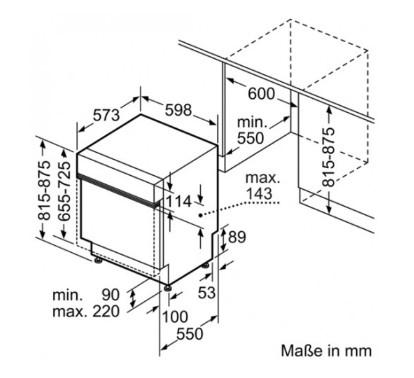 Thông số chi tiết của máy rửa chén bát BOSCH SMI46IS03E