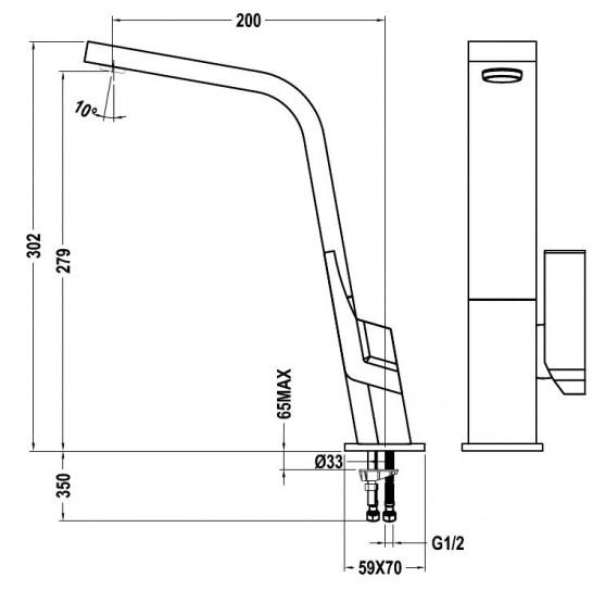 Thông số kỹ thuật của vòi rửa Teka icon black