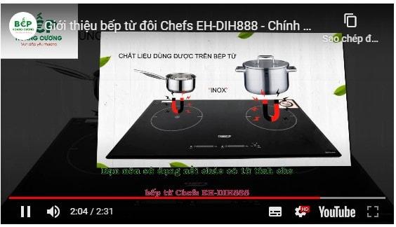 Video giới thiệu bếp từ đôiChefs EH-DIH888