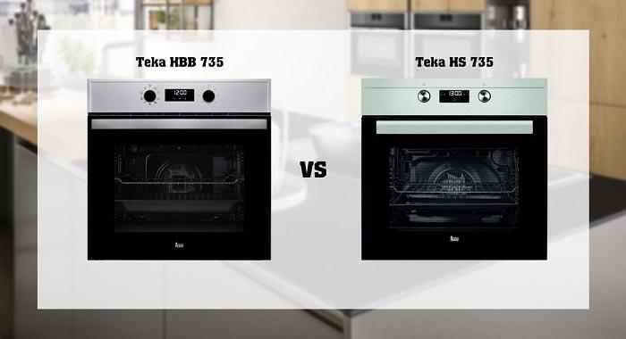 So sánh lò nướng Teka HBB 735 và HS 735