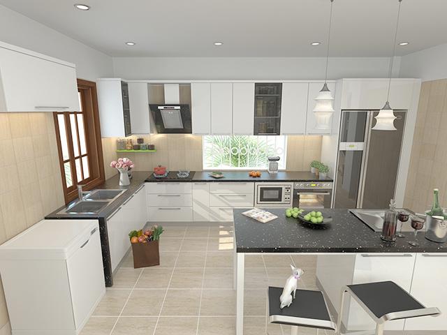Thiết kế nội thất nhà bếp nhỏ với Bosch