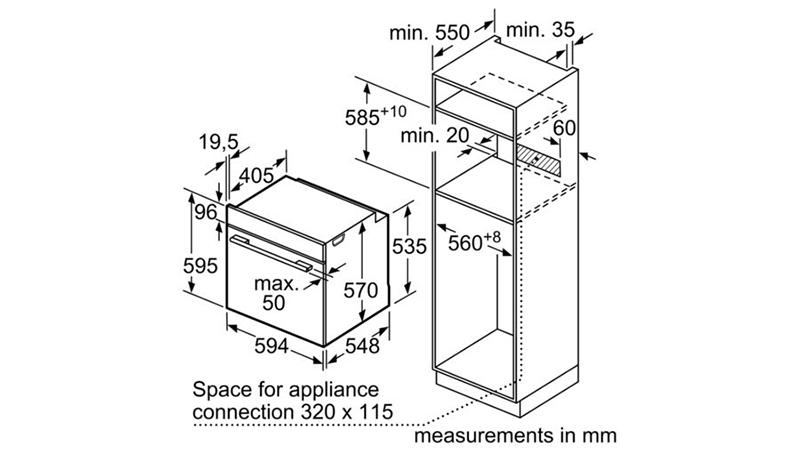 Lò nướng Bosch HBS534BB0B0
