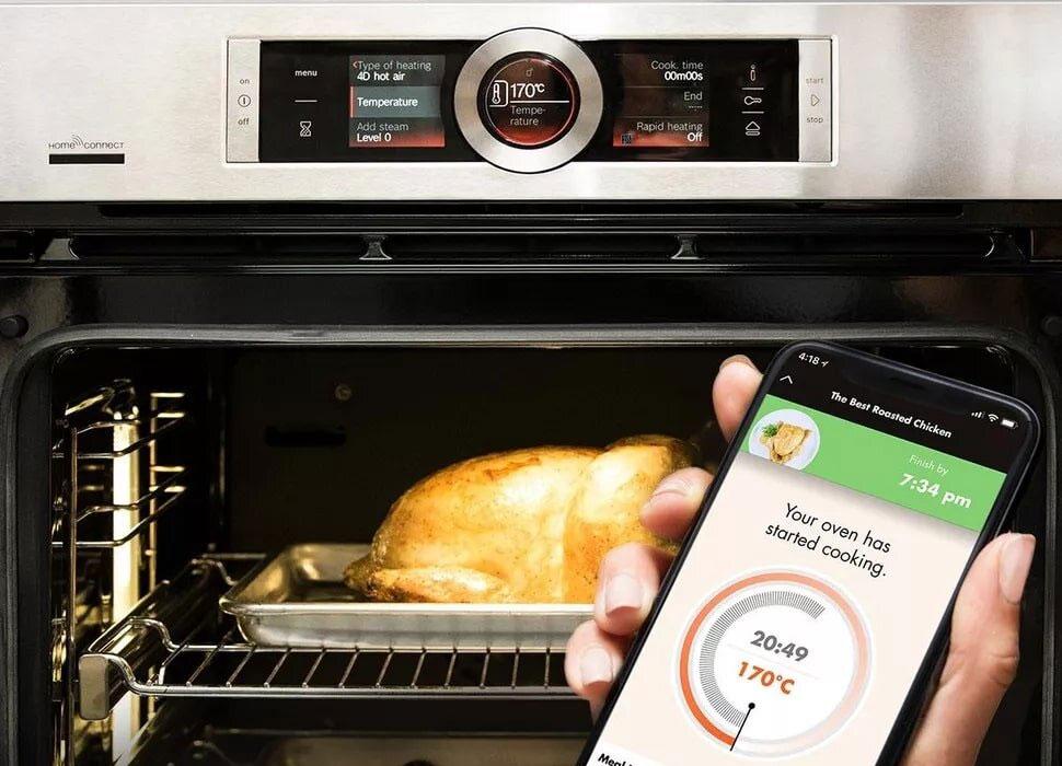 Chức năng hẹn giờ nấu củalò nướng Bosch HBA43S320E giúp tiết kiệm thời gian